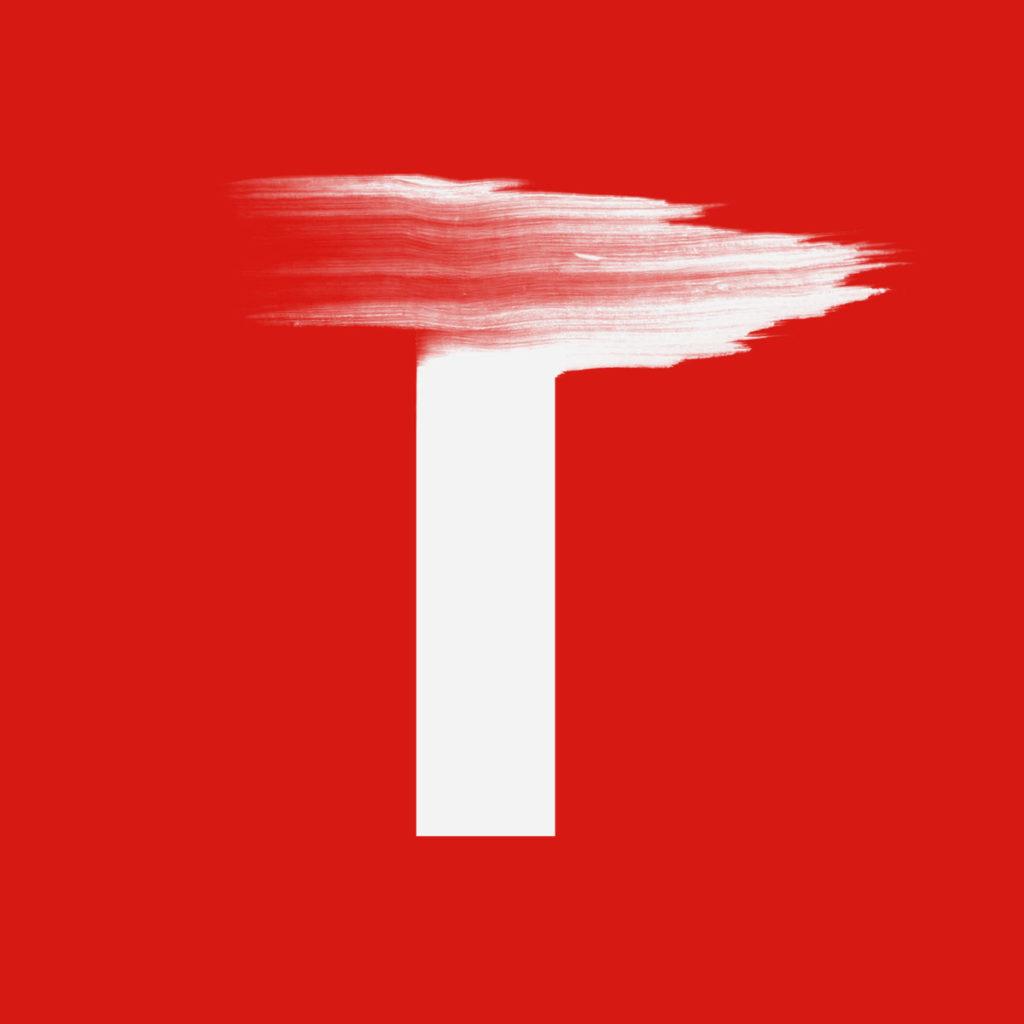 lettre T fait main maison màj