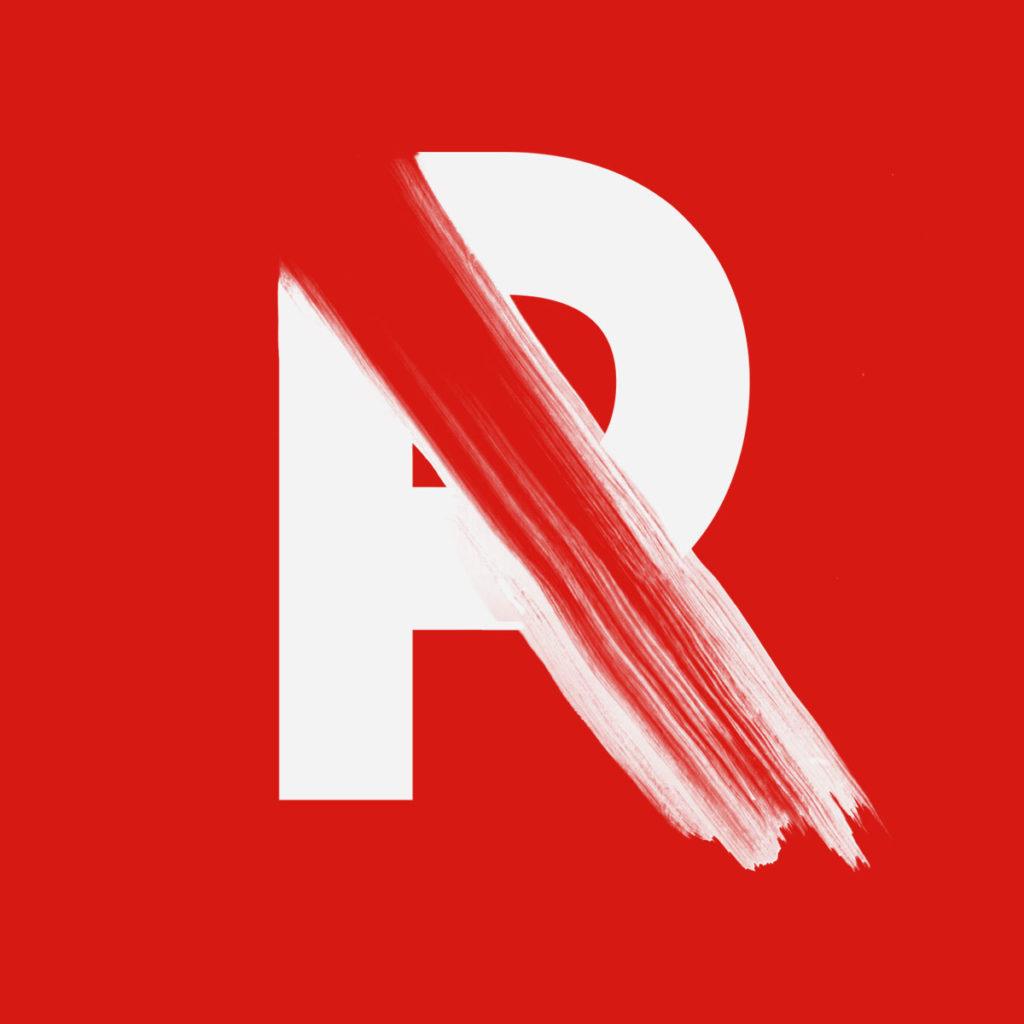 lettre R fait main maison màj