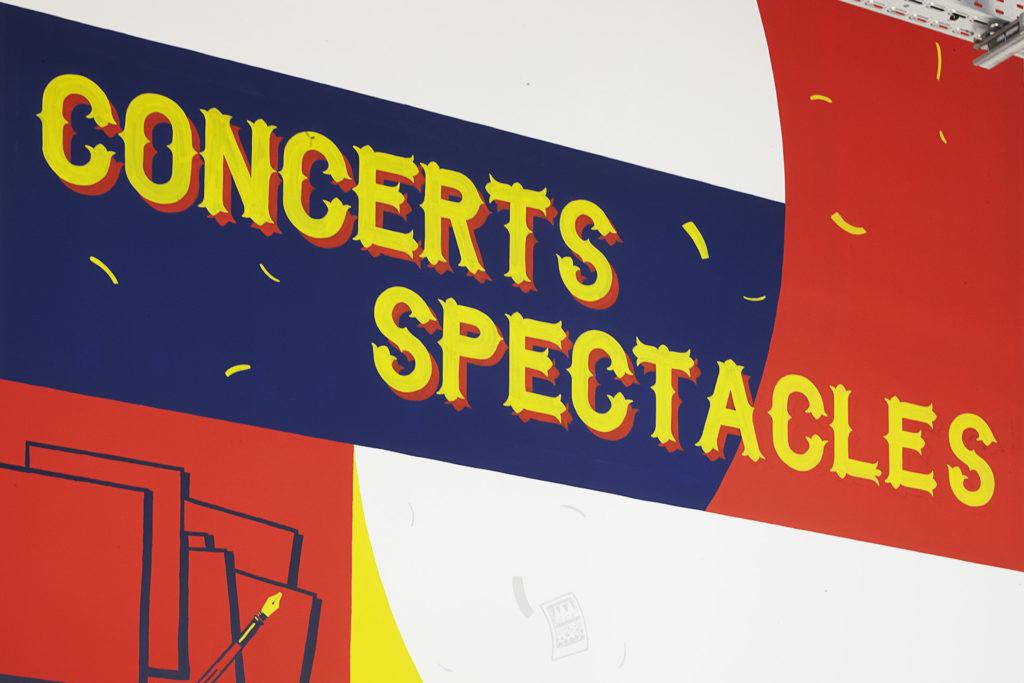 peinture en lettres nantes décoration espace culturel concert