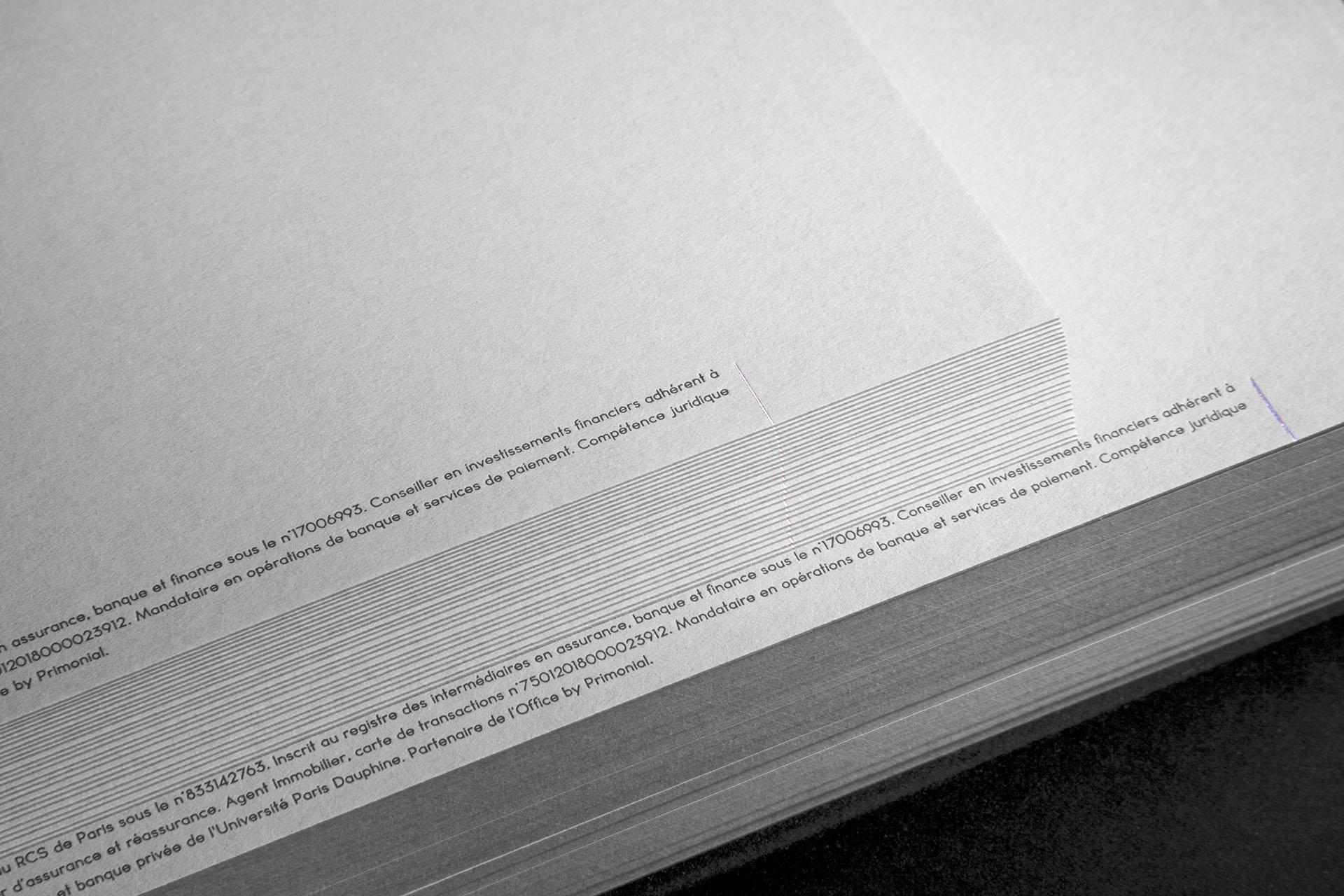 graphisme nantes carte de visite identité graphique iridescent letter press impression à chaud