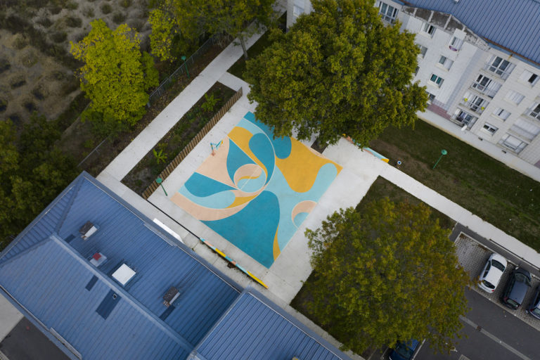 Terrain de basket Nantes design urbain
