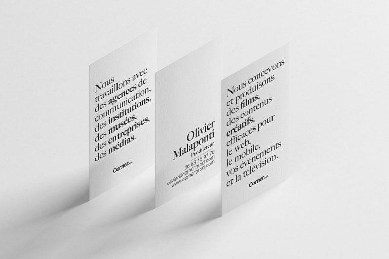 Corner Prod identité graphique direction artistique web design à nantes