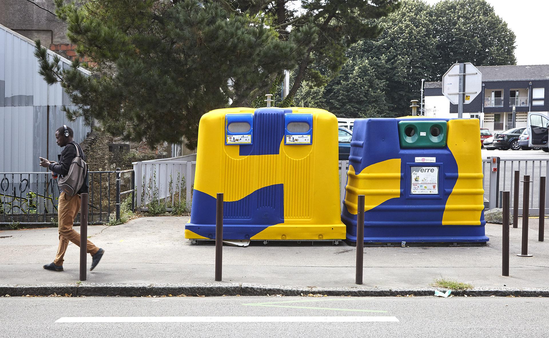 Motif fresque décoration couleurs Signalétique urbaine rue Biesse Nantes - iles de nantes