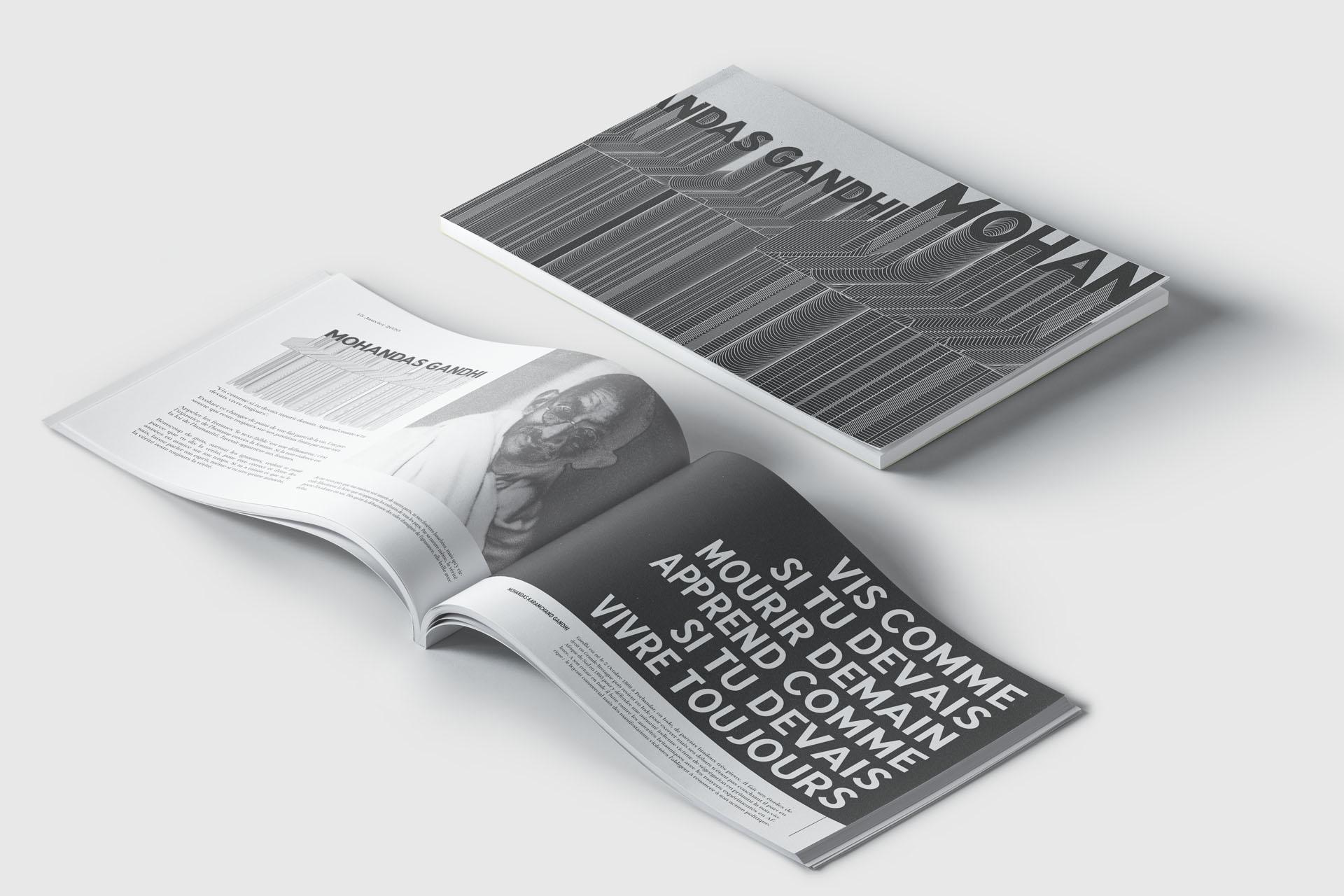 Typographie gyptian font utilisation graphique par maison màj