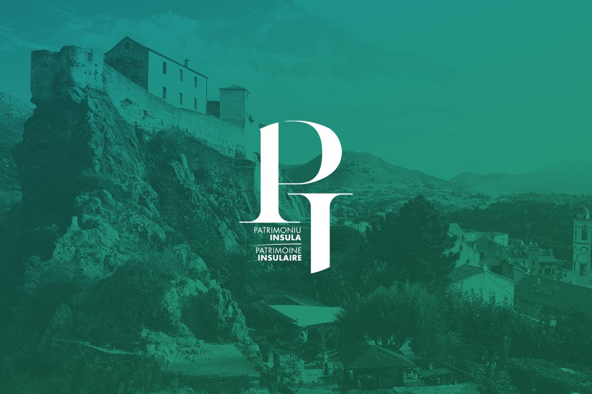 création du logo et de l'identité graphique pour le patrimoine insulaire collectivité de corse, agence MMàj