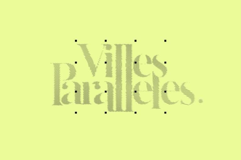 MMàj villes parallèles. création logo identité graphique
