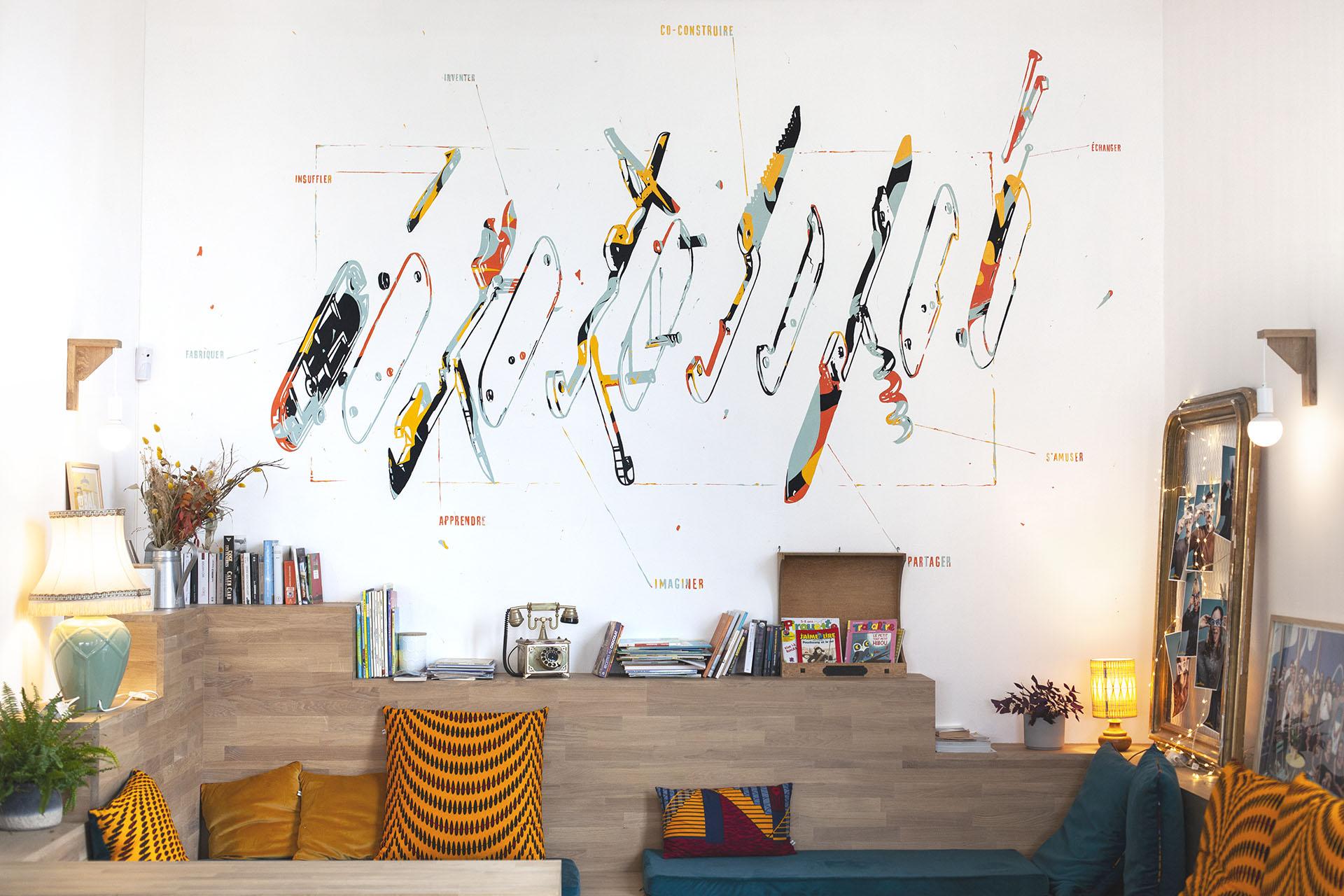 decoration intérieur conciergerie du parc iles de nantes mmaj