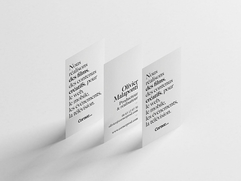 Corner Prod identité graphique direction artistique web design nantes, maison maj
