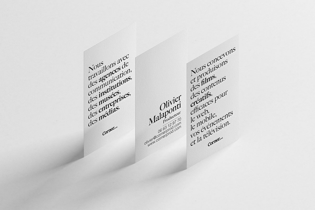 corner prod identité graphique logo et charte graphique web design agence de production audiovisuel3