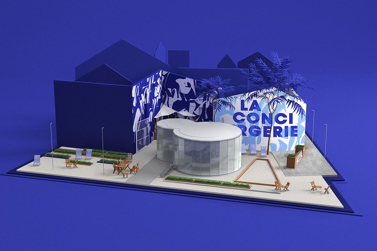 la conciergerie iles de nantes elephant machine de l iles decoration urbaine fresque street art mur bleu outremer