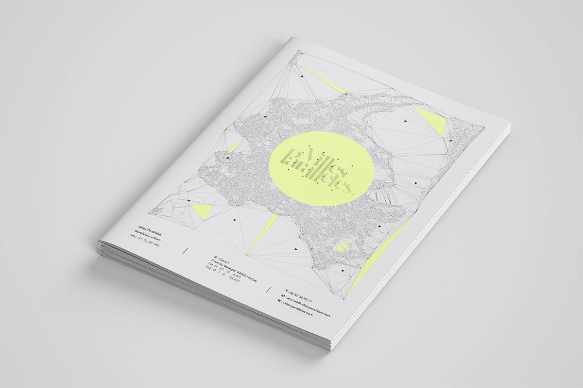 identité graphique nantes villes paralèlles urbaniste urbanisme tiers lieux eplacement decarbonne jaune charte graphique op art nantes