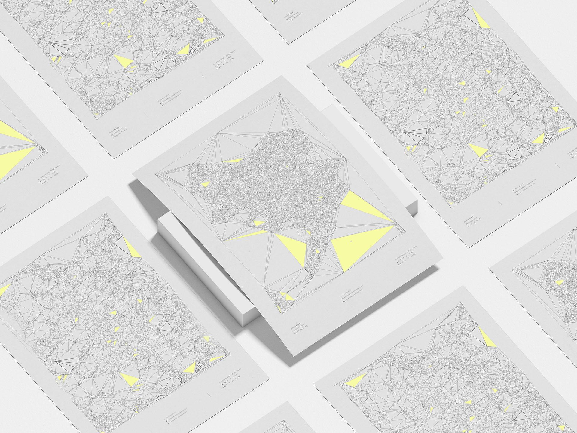Villes parallèles nantes urbanisme et déplacement decarbonnés, maitrise d'usage poster graphisme