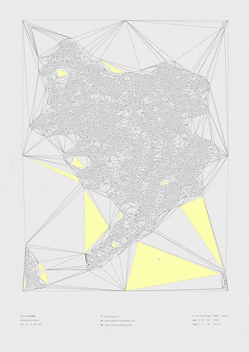 poster illustration maison maj pour villes paralelles à nantes